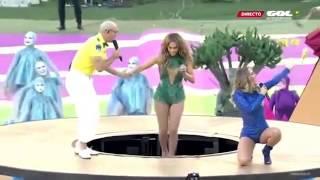 Repeat youtube video Así fue la presentación de Jennifer Lopez y Pitbull apertura del Mundial Brasil 2014