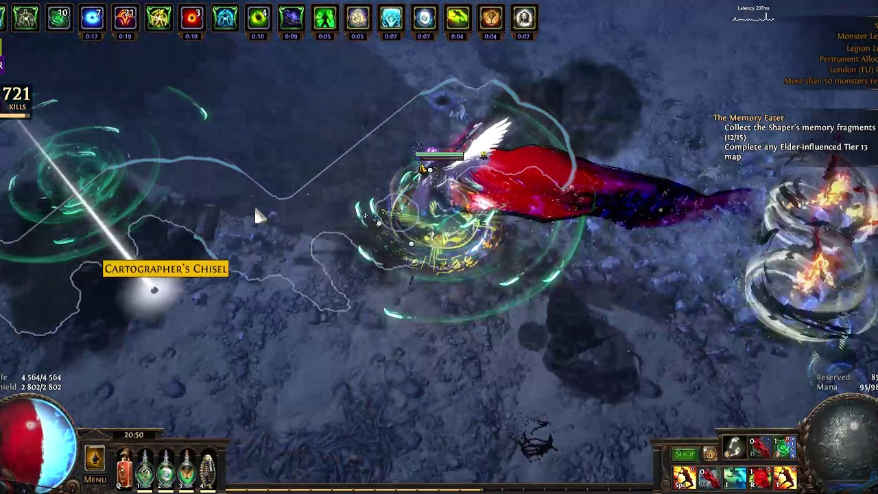 Path of Exile Legion [3 7]: Blade Vortex Semi-Autobomber Assassin (Pob in  discription)