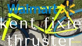 walmart kent thruster fixie bicycle review 700c