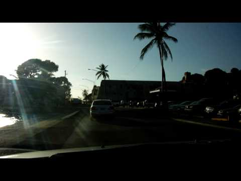 Driving in downtown Charlotte Amalie