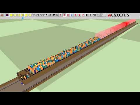 Evacuation Simulation of a train in a tunnel on fire – part 1 OWG train end doors