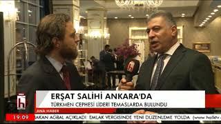 Türkmen lider Erşat Salihi canlı yayında Halk TV'ye konuştu