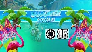 35 ELIMS! SUMMER ROYALE?! *NEW* Splashdown Game Mode- Fortnite