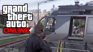 GTA 5 Online - How To Get A Helicopter In Any Online Mission! (GTA V)
