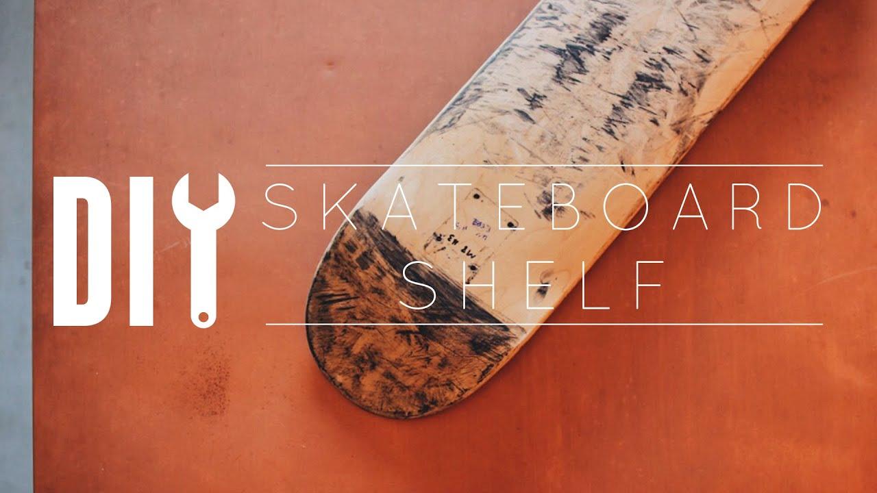 Skateboard Shelf diy skateboard shelf - youtube