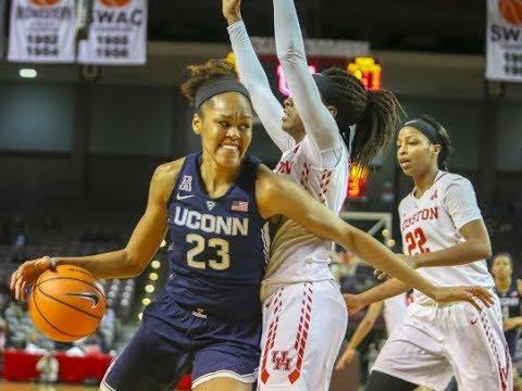 UConn Women's Basketball Highlights v. Houston 01/13/2018