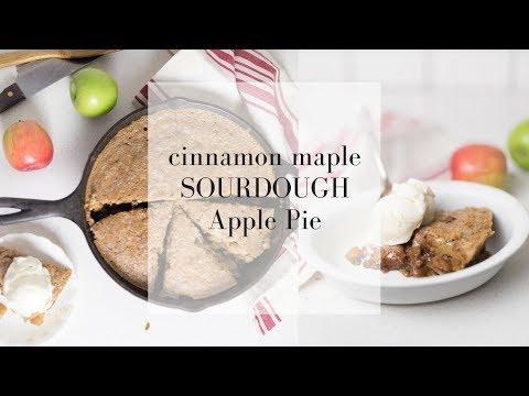 Cinnamon Maple Sourdough Apple Pie   HEALTHY APPLE DESSERTS