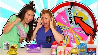 Çarkıfelekten Ne Çıkarsa Slime Challenge - Eğlenceli Çocuk Videosu