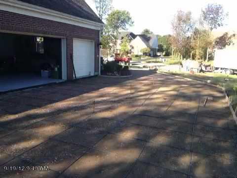 How to pour a concrete driveway mason ohio youtube for How to pour a concrete driveway
