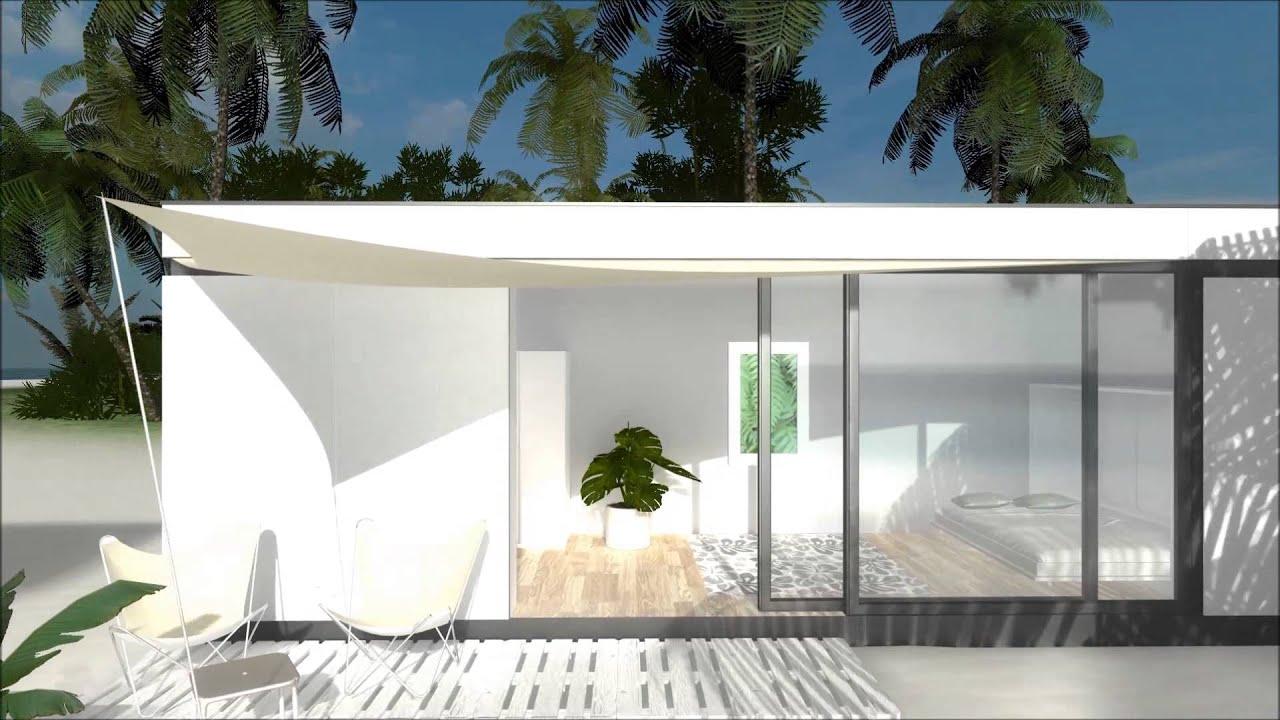 commod haus beachbox auf der einsamen insel 3d visualisierung youtube. Black Bedroom Furniture Sets. Home Design Ideas