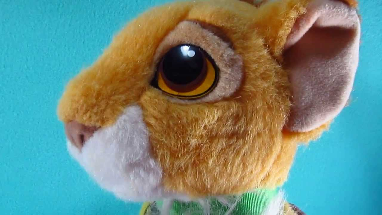 Purring Simba Cub Plush Stuffed Animal Soft Toy Lovey Disney The