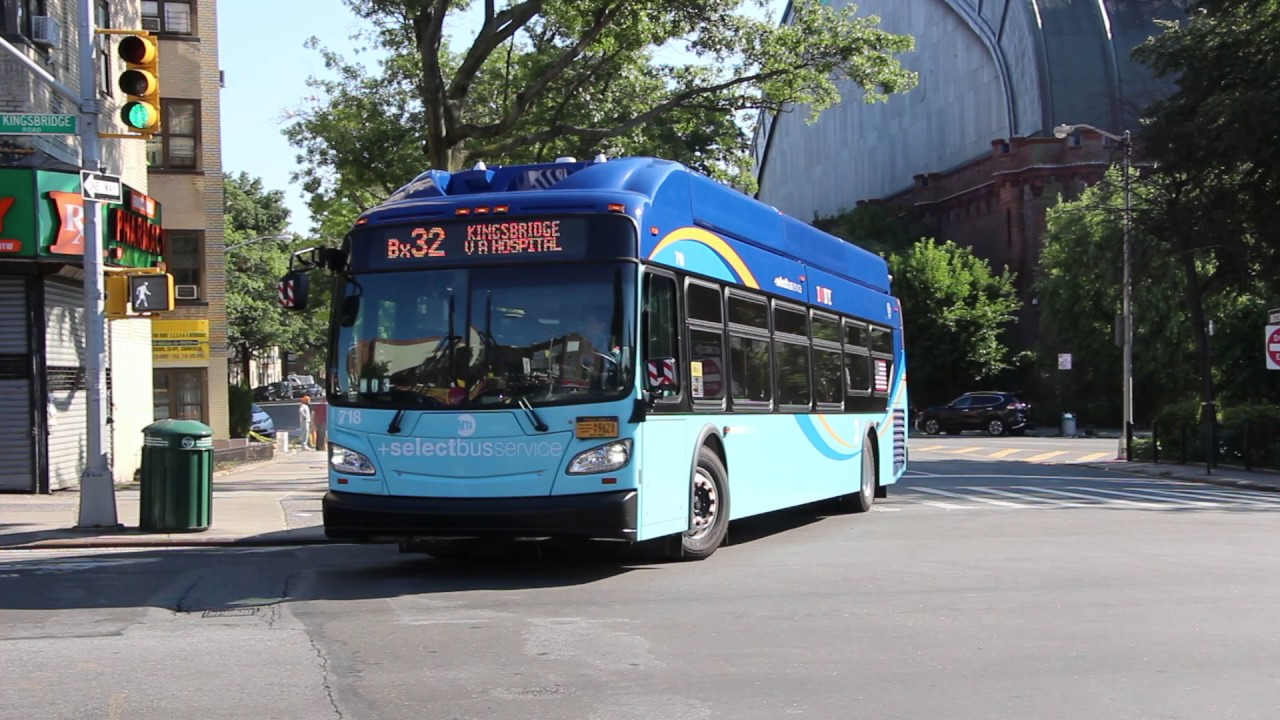 2017 New Flyer Xn40 718 On The Bx32 At Reservoir Avenue And