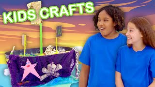 Make a Toy Pirate Ship! | KIDS CRAFTS | Universal Kids