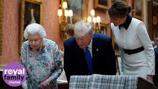 The Queen shows President Trump and Melania US artefacts from Royal Collection