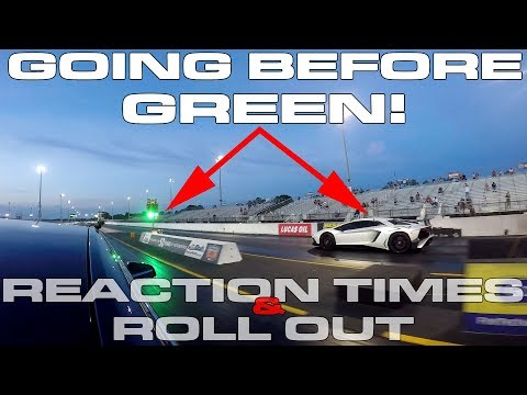 Why Going Before The GREEN Light Is Not CHEATING! - Drag Racing Reaction Times And Roll Out 101