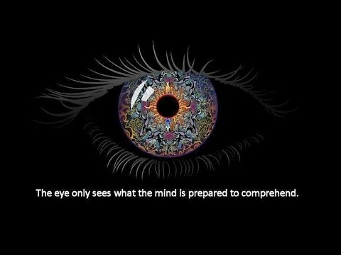 """""""The eye sees only what the mind is prepared to comprehend."""""""
