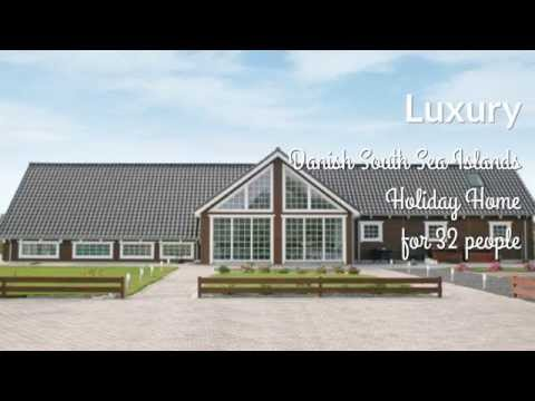 Luxury Holiday Home Denmark | 32 People | Danish South Sea Islands | Pool House