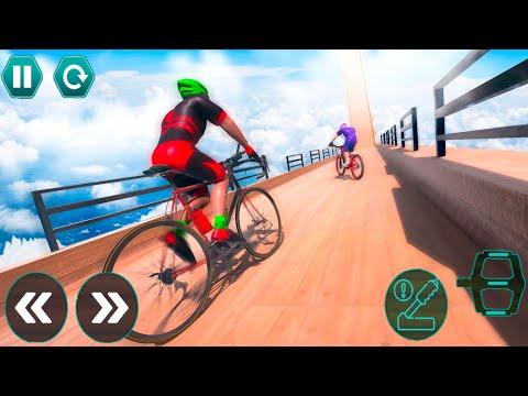 Cycle Stunt Racing Impossible Tracks - Mega Ramp Bicycle - Android Gameplay #16 thumbnail
