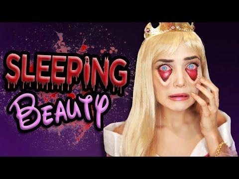 Tired Sleeping Beauty Halloween Makeup Tutorial | Disney Princess