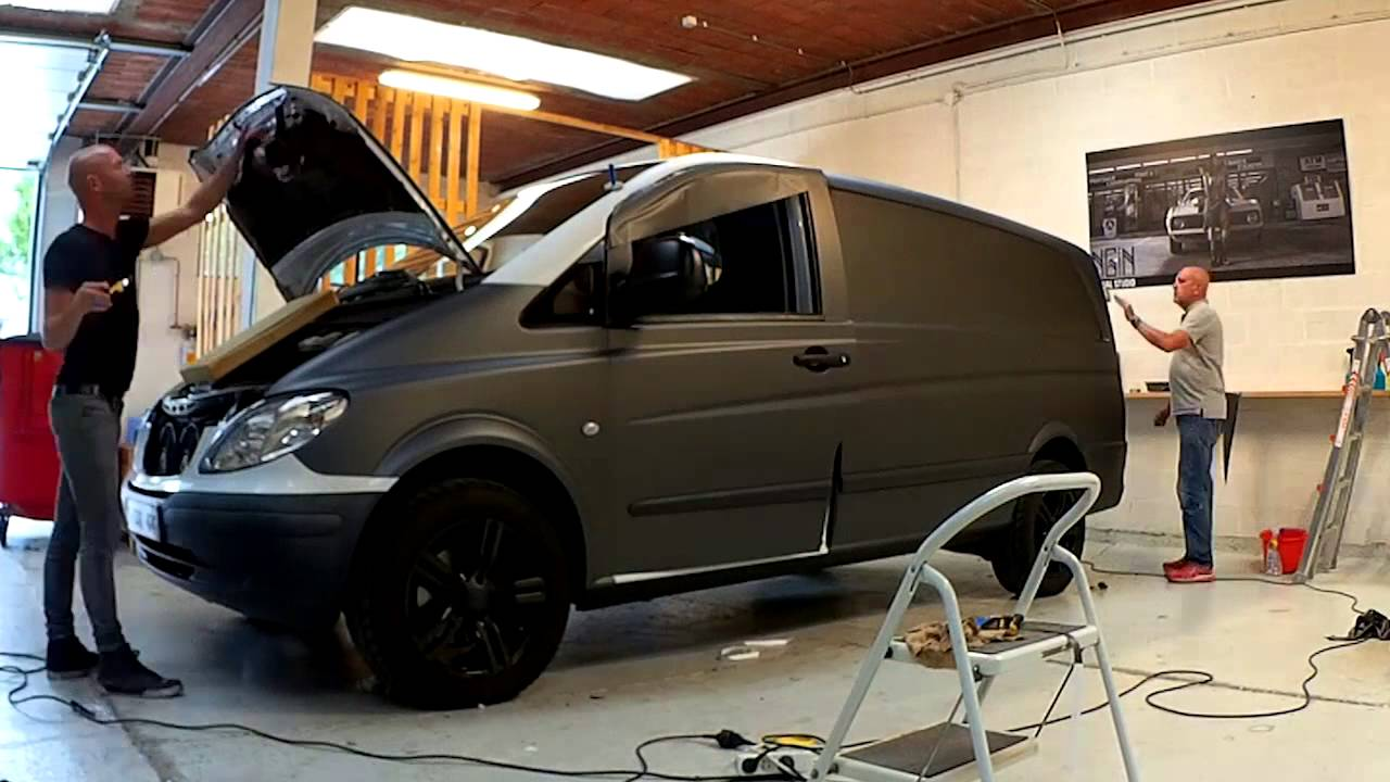 Carwrapping mercedes vito - YouTube