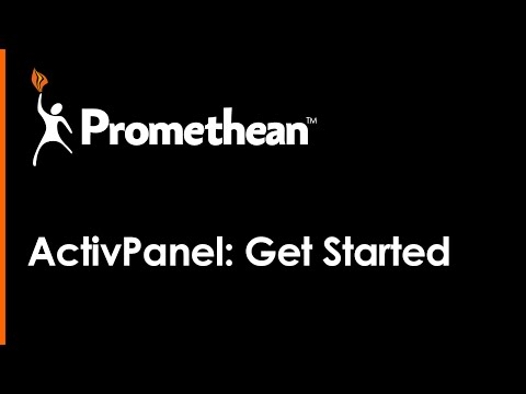 ACTIVPANEL: GETTING STARTED