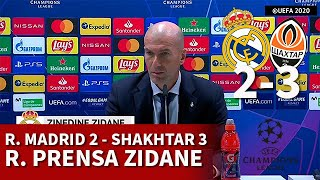 REAL MADRID 2 SHAKHTAR 3 | ZIDANE, rueda prensa CHAMPIONS LEAGUE | DIARIO AS