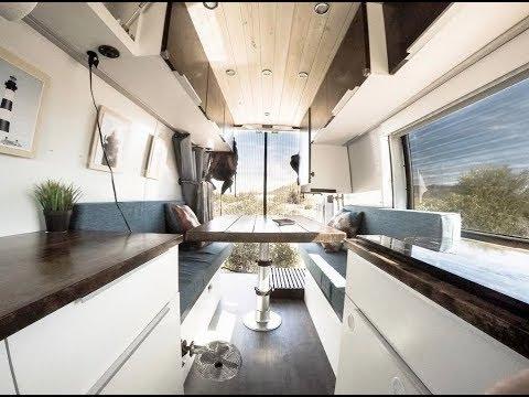 van-tour:-ultimate-diy-off-grid-sprinter-van-conversion-with-bathroom- -comes-with-a-view
