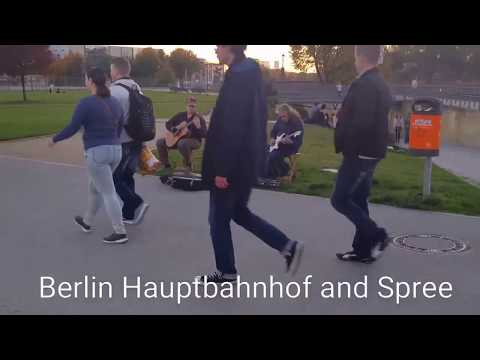Berlin Hauptbahnhof and Spree River