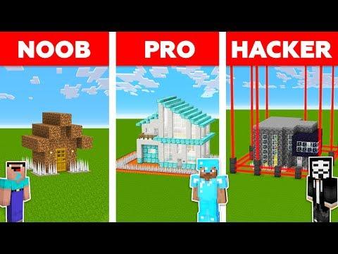 Minecraft NOOB vs PRO vs HACKER : ZOMBIE BASE DEFENSE CHALLENGE in minecraft / Animation