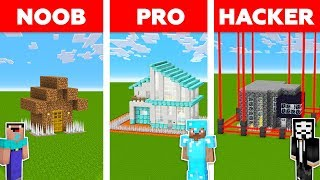 Minecraft NOOB Vs PRO Vs HACKER  ZOMB E BASE DEFENSE CHALLENGE In Minecraft  Animation