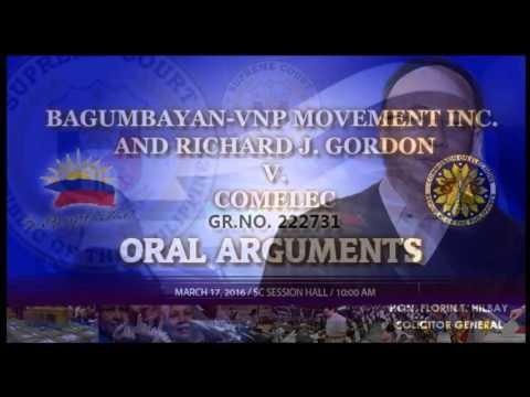 Bagumbayan-VNP Movement Inc. and Richard J. Gordon v. Comelec