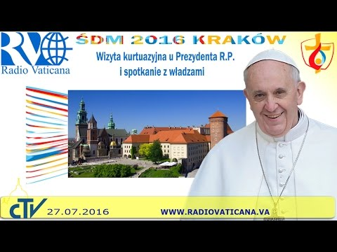 Pope Francis in Poland, meeting with Authorities and Civil Society