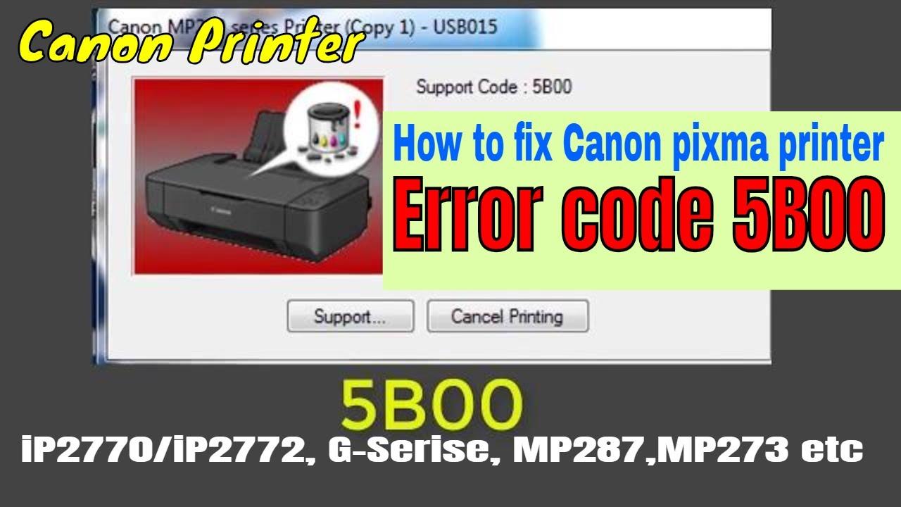 How to fix Canon pixma Error 5b00 | abjorber full | service