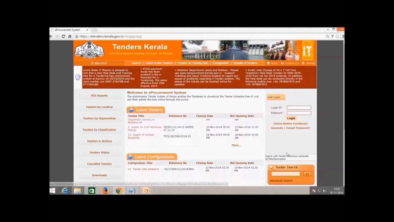E Procurement Bidder Registration Youtube