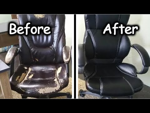 office chair cushion ruffled covers for sale how to fix flat youtube