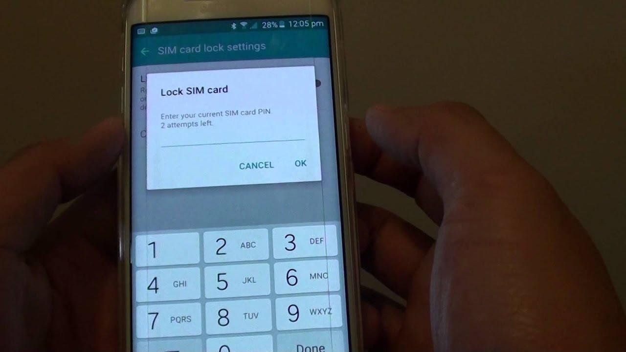 Samsung Galaxy S6 Edge: Find the Default SIM Card PIN