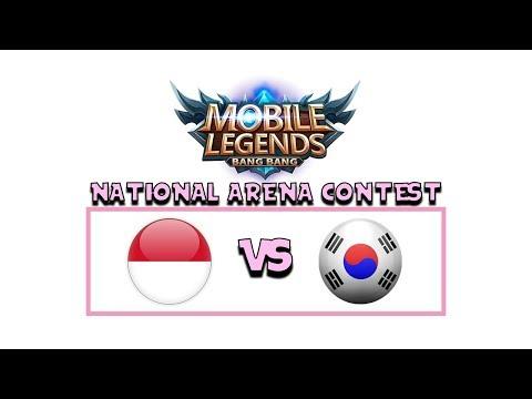INDONESIA VS KOREA ARENA CONTEST MOBILE LEGENDS !