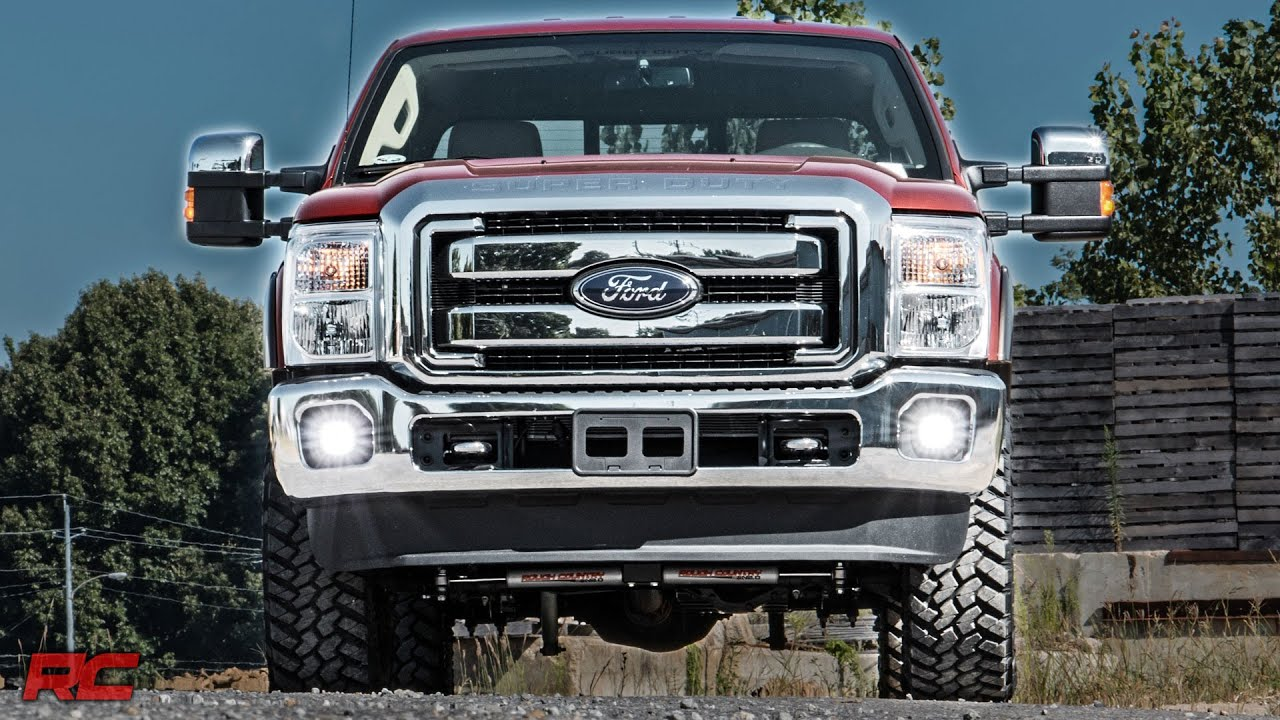 Ford F350 Headlights 2011-2016 Ford Super Duty 2-inch Cree LED Fog Light Kit by ...