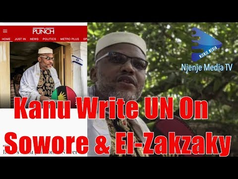 Nnamdi Kanu In Geneva Petitions UN Over Omoyele Sowore, Sheikh El-Zakzaky Ask UN To Support Biafra