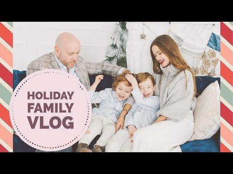 Family Holiday Vlog | BTS Holiday Photoshoot