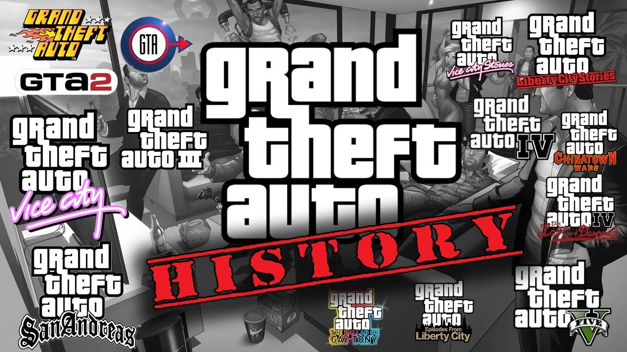 history of grand theft auto 1997 2013 youtube. Black Bedroom Furniture Sets. Home Design Ideas