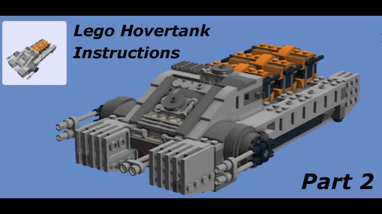 Lego Hovertank Moc Instructions Part 2 Star Wars Rouge One Youtube