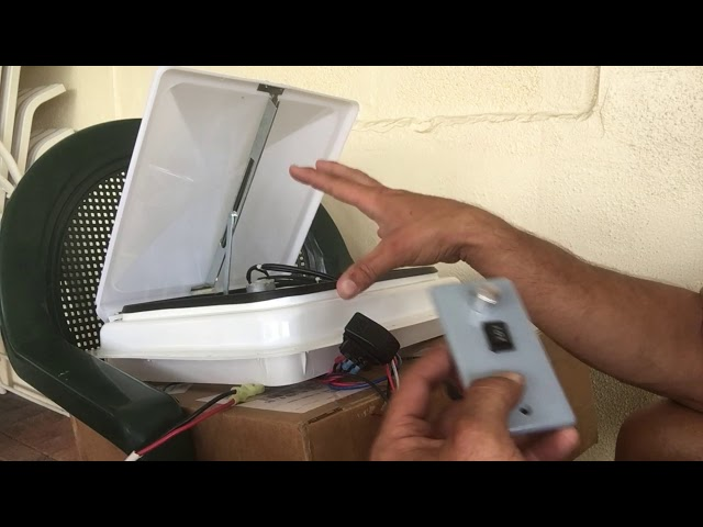RV Trailer Build #106 - Re-Switching A RV Roof Vent w/Variable Speed and Reverse