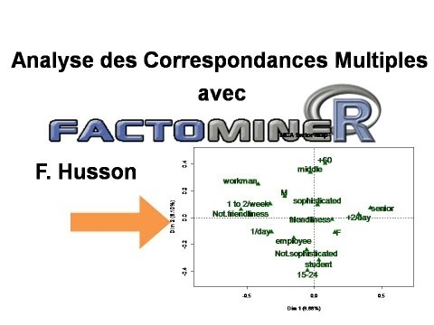 Analyse des correspondances multiples (ACM ou AFCM) FactoMineR