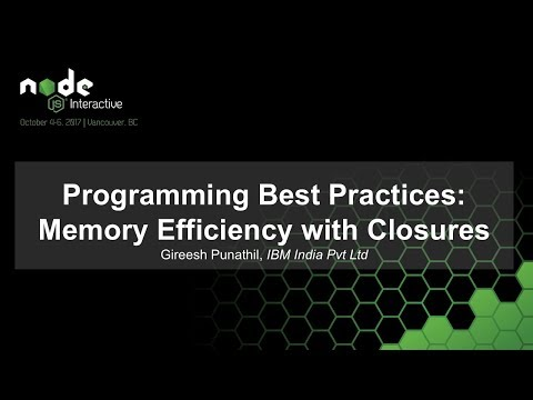 Programming Best Practices: Memory Efficiency with Closures [I]