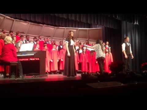 Sublette High School Christmas Concert 2014 soloists Breanna Rodgers/Jayden Garetson