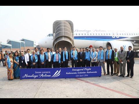 Himalaya Airlines' Inaugural flight to Colombo