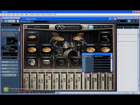 Curso Nuendo 4 - Aula 13 - Vst Bateria Session Drummer e Addictive Drums
