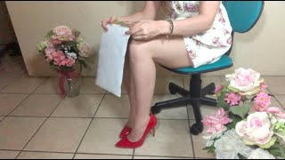 SHOWING YOU MY ART IN HEELS   PAGE TOUCHING & TRACING (Soft Spoken)
