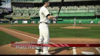 Major League Baseball 2K9 MLB 2009 video game trailer Matt Holliday action